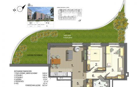 Bielnik - mieszkania przy parku, etap 1, mieszkanie nr 1