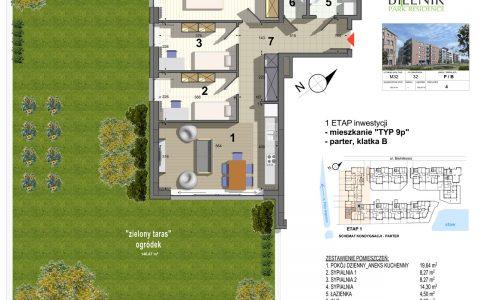 Bielnik - mieszkania przy parku, etap 1, mieszkanie nr 32