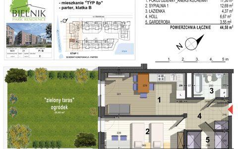 Bielnik - mieszkania przy parku, etap 1, mieszkanie nr 31